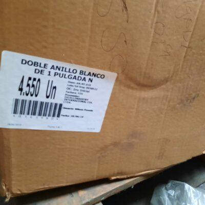 DOBLE ANILLO BLANCO DE 1 PULGADA N