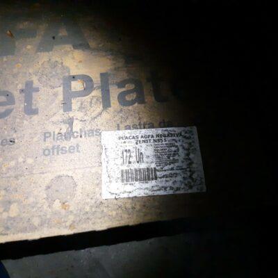 PLACAS AGFA NEGATIVA ZENIT N555  (EL TIEMPO)