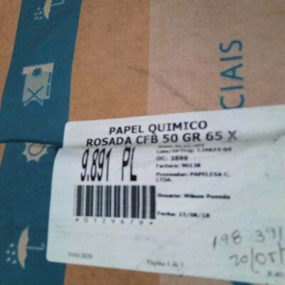 PAPEL QUIMICO ROSADA CFB 50 GR 65 X 90 CM