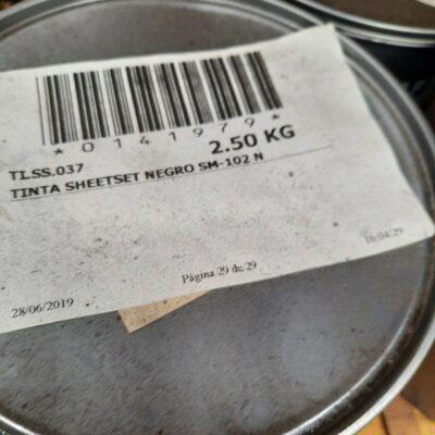 TINTA SHEETSET NEGRO SM-102 N